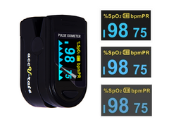 Zacurate 500D Deluxe Pro Series Black Pulse Oximeter Brightness Adjustment