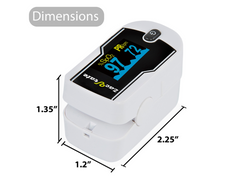 zacurate pulse oximeter 430-DL dimensions of the product