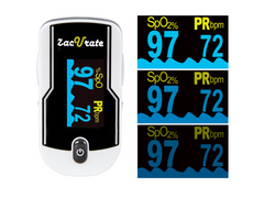 zacurate pulse oximeter 430-DL brightness adjustment