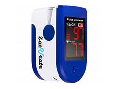 Zacurate Blue Pulse Oximeter User Interface