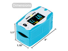 Dimensions for zacurate children pulse oximeter