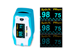 Brightness adjustment for zacurate children pulse oximeter