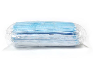 50-Pack Disposable Face Masks with Elastic Loop