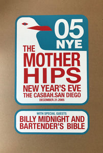 the mother hips 2005 new years eve event poster blue rose music