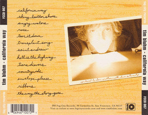 Tim Bluhm California Way CD Blue Rose Music Back Cover The Mother Hips