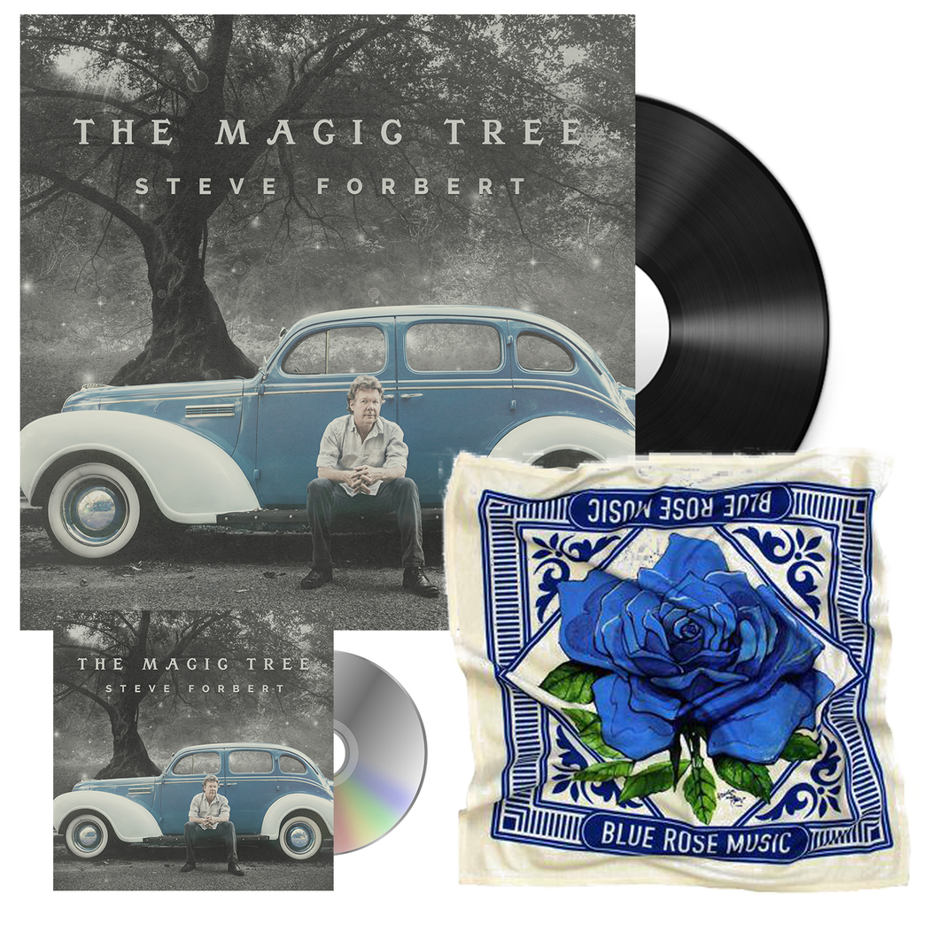 Steve Forbert album The Magic Tree 2018 Vinyl LP CD Blue Rose Music Bandana bundle merch