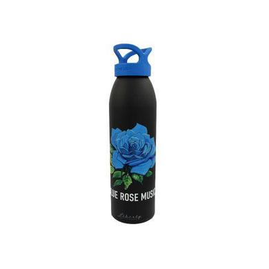 100% American Made Metal Bottle featuring Blu Rose Music logo. Recyclable and environmentally sustainable. 24oz.
