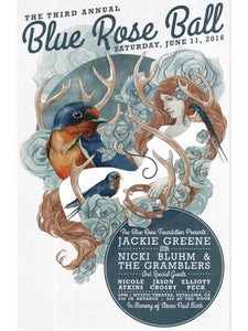Blue Rose Ball poster 2016 artwork by stanley mouse blue rose foundation benefit small glossy poster