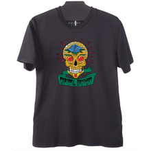 The Grateful Brothers black skull t-shirt organic band merch made in america blue rose music