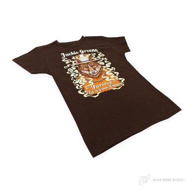 Jackie Greene smoking wolf t-shirt merch tee made in america organic USA made