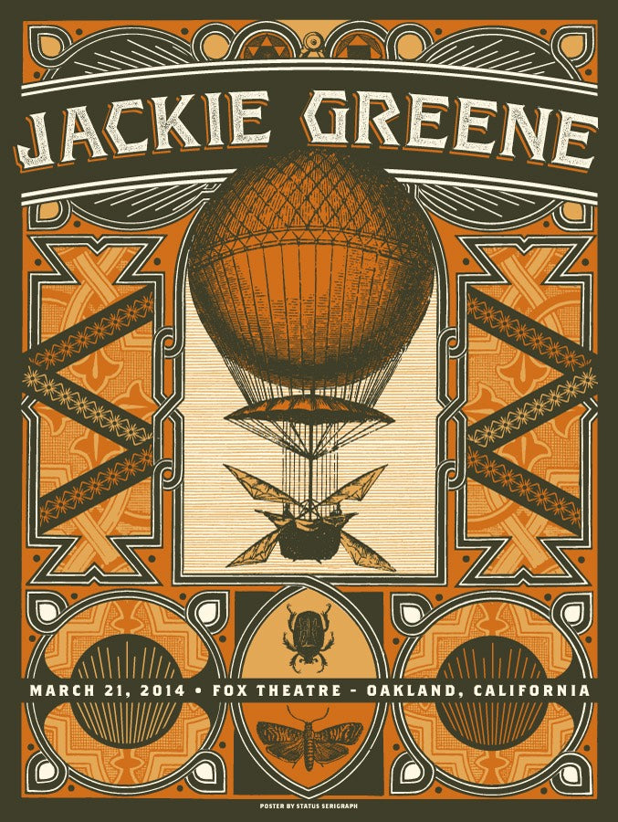 jackie greene 2014 fox theatre poster limited edition blue rose music