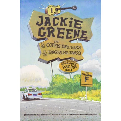 Jackie Greene 2014 fillmore poster limited edition blue rose music
