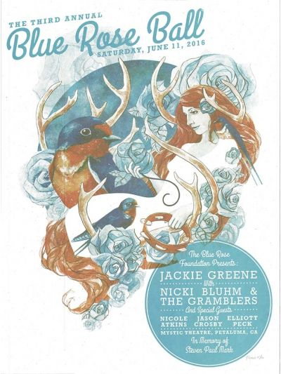 Blue Rose Ball poster 2016 artwork by stanley mouse blue rose foundation benefit large numbered poster
