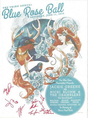 Blue Rose Ball 2016 Poster by Stanley Mouse (signed)