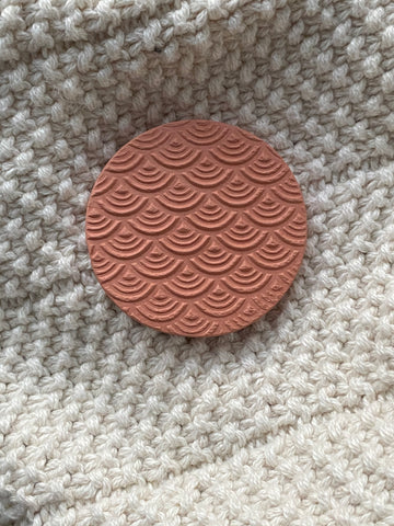 Gentle waves terracotta essential oil diffuser disk