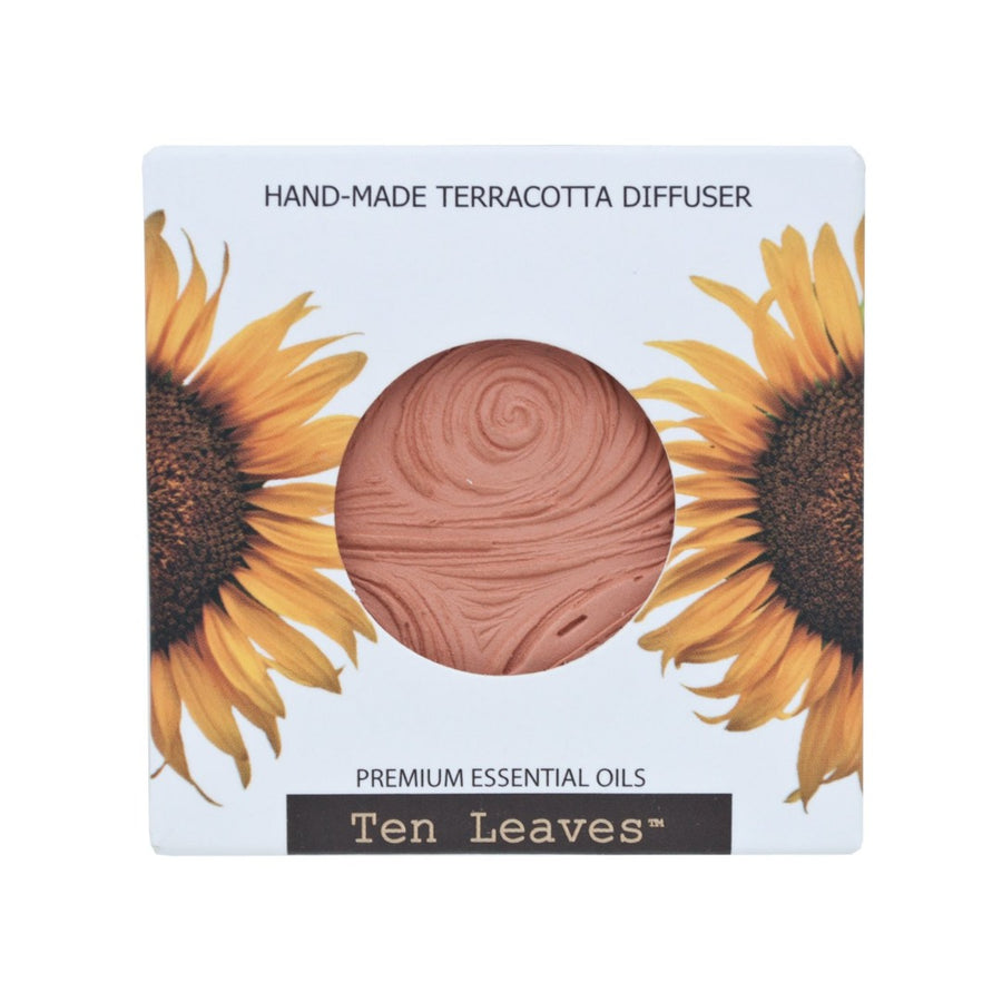 Terracotta Essential Oil Diffuser Disk - Swirls