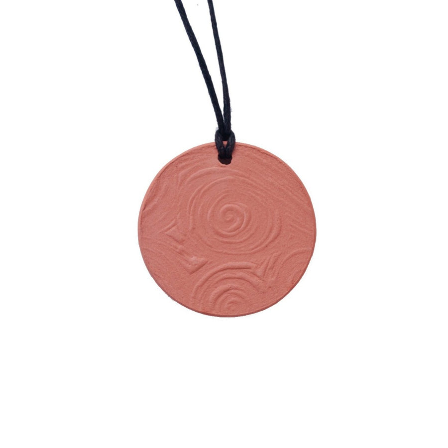 Terracotta Essential Oil Diffuser Pendant Necklace- Pine Star