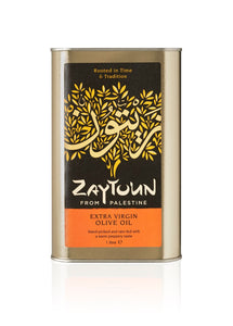 Zaytoun Extra Virgin Olive Oil Case of 6 x 1 litre tins (CR8-1)