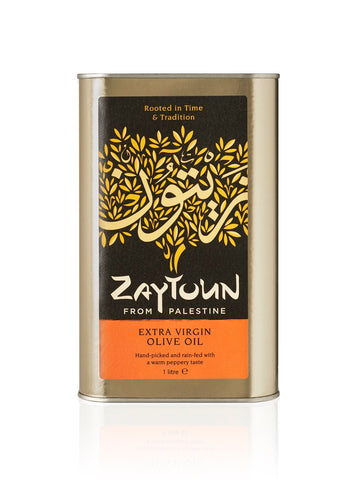 Zaytoun Extra Virgin Olive Oil Case of 6 x 1 litre tins (CV8-1)