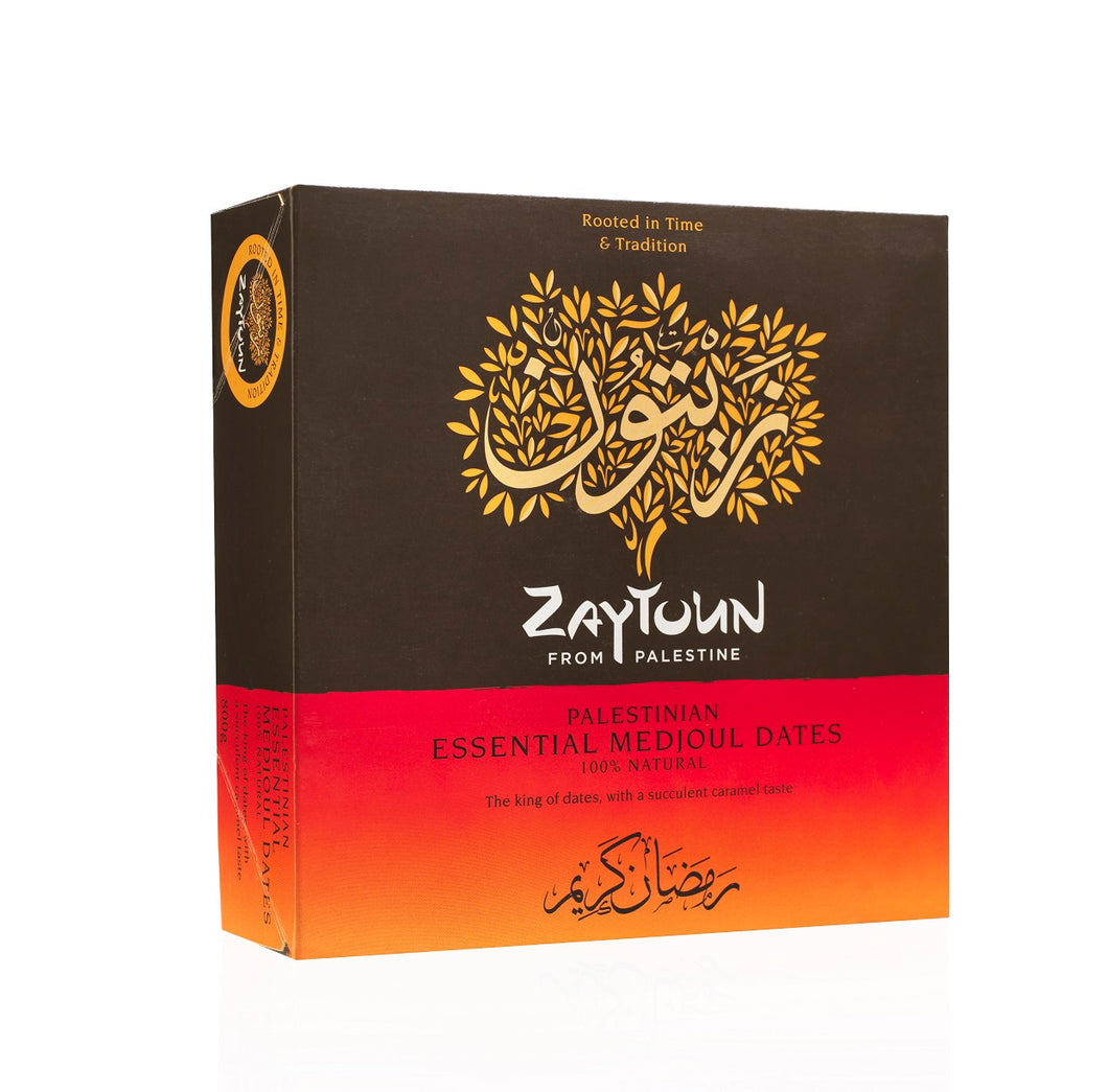 Zaytoun Palestinian Essential Medjoul Dates Case of 6 x 800g boxes (DA1-5)
