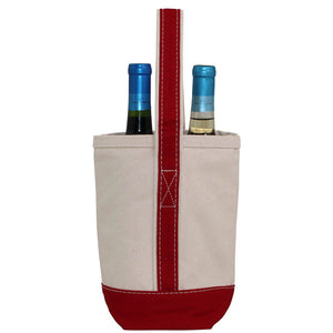 """his & her"" 2 bottle tote (2 colors available)"