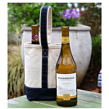 Load image into Gallery viewer, 2 bottle wine tote (2 colors available)