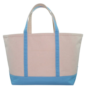 boat tote, large (navy, grey, pink)