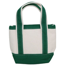 Load image into Gallery viewer, boat tote, tiny (grey, green)