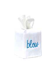 "Load image into Gallery viewer, ""blow"" tissue box cover"