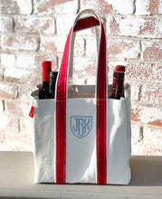 Load image into Gallery viewer, 4 bottle wine tote  (14 colors available)