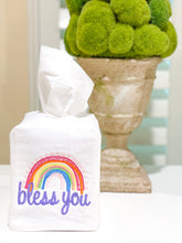 Load image into Gallery viewer, rainbow tissue box cover