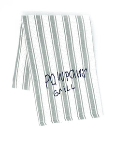 handwritten custom monogram cooking towel (3 colors available)