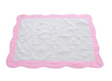 Load image into Gallery viewer, heirloom baby blanket (pink, blue)