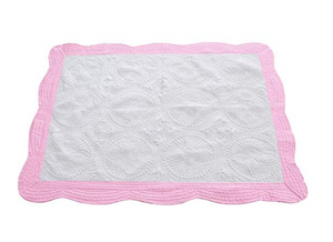 heirloom baby blanket (pink, blue)