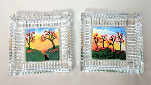 Autumn Trinket Dishes - Set of Two