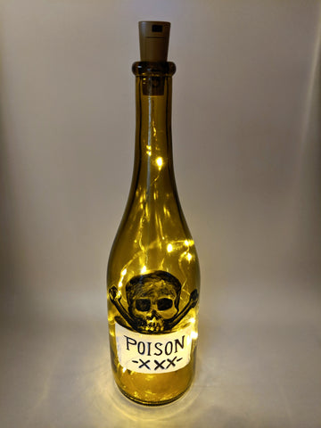 Halloween Light Up Wine Bottle