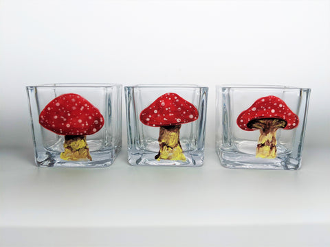 Mushroom Tea Light Candle Holders