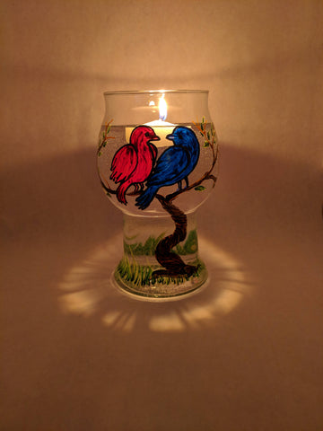 Love Birds Floating Candle Holder