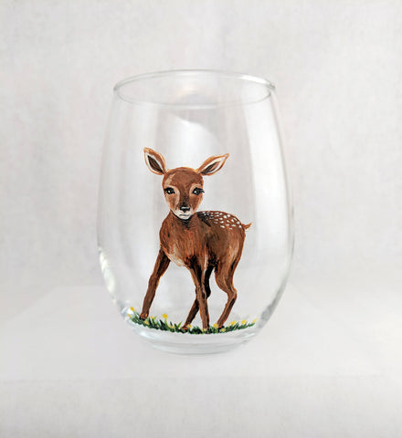 Deer Stemless Wine Glass
