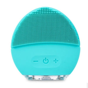 Ultrasonic Mini Silicone Face Cleansing Brush - www.theknickknackstore.com