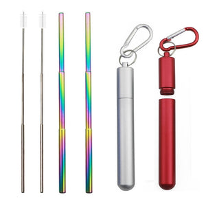 Reusable Eco-Friendly Stainless Steel Straw - www.theknickknackstore.com