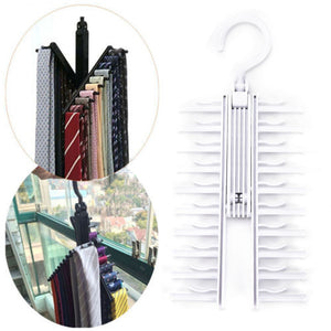 Adjustable 360 Degree Rotating Tie Rack - www.theknickknackstore.com