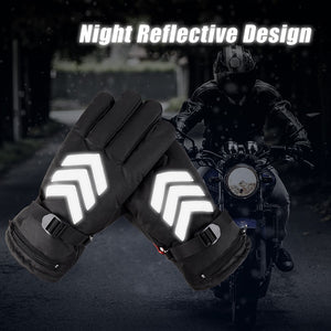 HEATED GLOVES WITH REFLECTIVE DESIGN - www.theknickknackstore.com