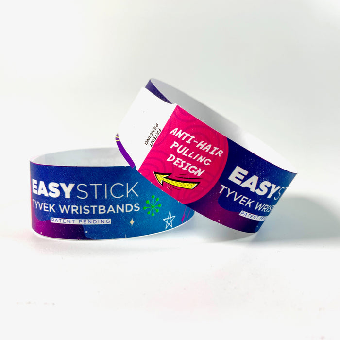 New Product Announcement! Easy Stick Full Color Tyvek Wristbands