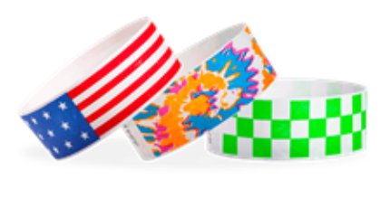 Checkered Tyvek Paper Wristbands