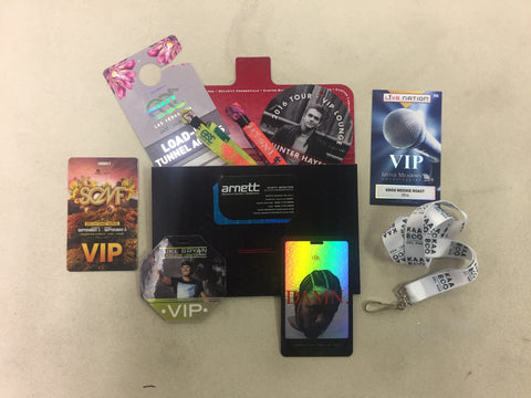 vip wristbands sticky passes parking passes laminates lanyards