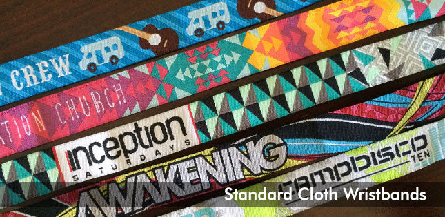 custom cloth wristbands