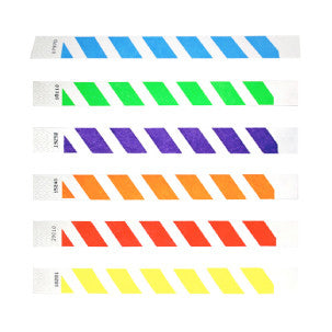 Striped Tyvek Wristbands