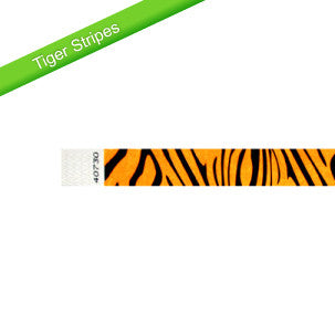 Tiger Pattern Tyvek Wristbands