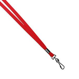 "Lanyards with Swivel Hook - Red - (1/2"") - Backstage Supplies"